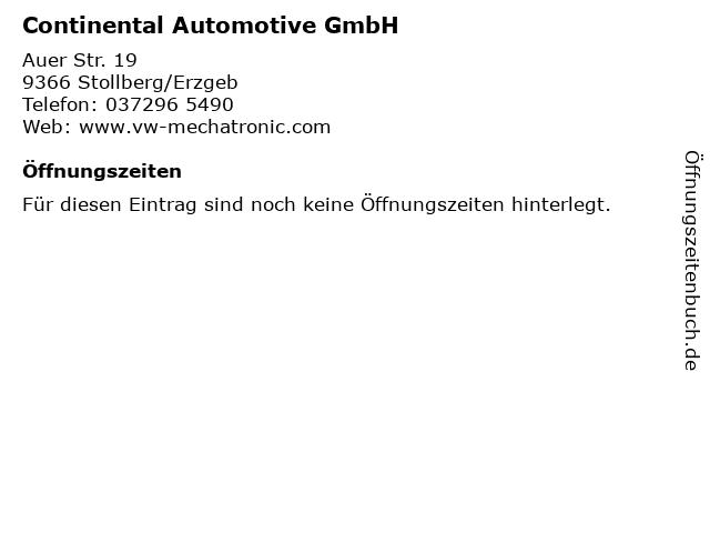 Continental Automotive GmbH in Stollberg/Erzgeb: Adresse und Öffnungszeiten