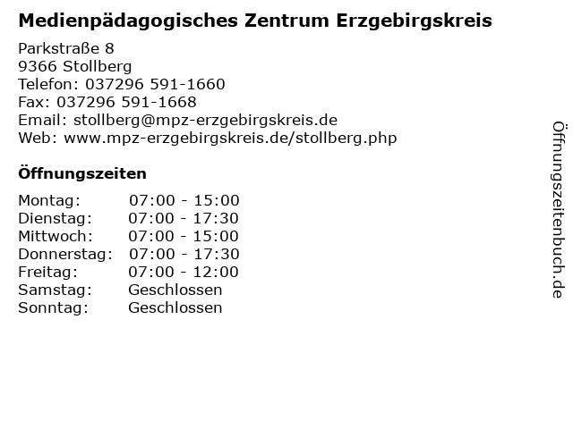 Medienpädagogisches Zentrum Erzgebirgskreis in Stollberg: Adresse und Öffnungszeiten