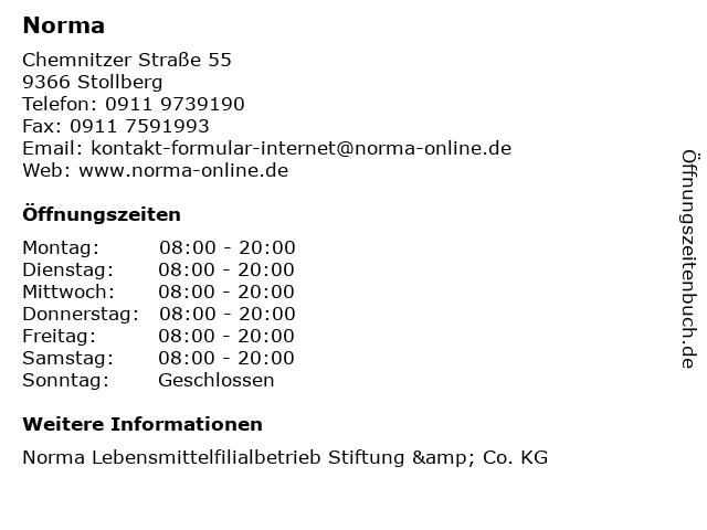 Norma in Stollberg: Adresse und Öffnungszeiten