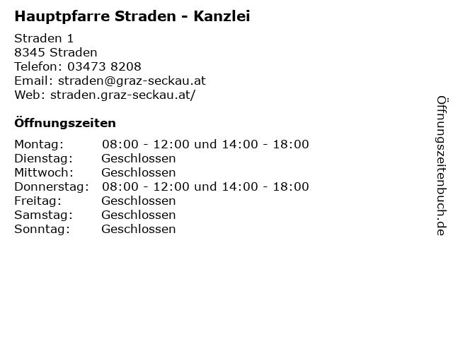 Hauptpfarre Straden - Kanzlei in Straden: Adresse und Öffnungszeiten