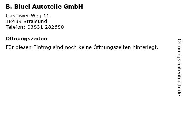 B. Bluel Autoteile GmbH in Stralsund: Adresse und Öffnungszeiten