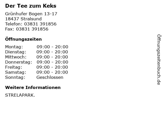 Der Tee zum Keks in Stralsund: Adresse und Öffnungszeiten
