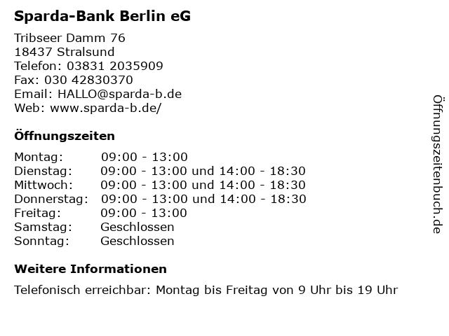 Sparda Bank Stralsund öffnungszeiten