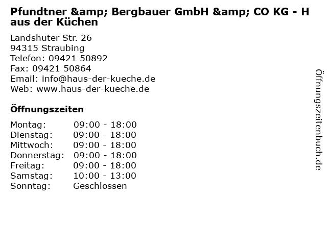 ᐅ Offnungszeiten Pfundtner Bergbauer Gmbh Co Kg Haus Der