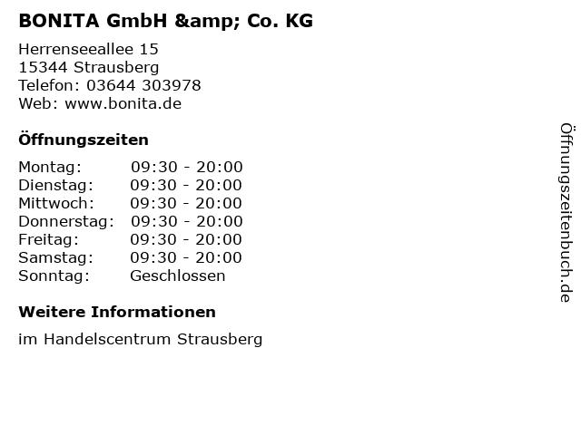 BONITA GmbH & Co. KG in Strausberg: Adresse und Öffnungszeiten