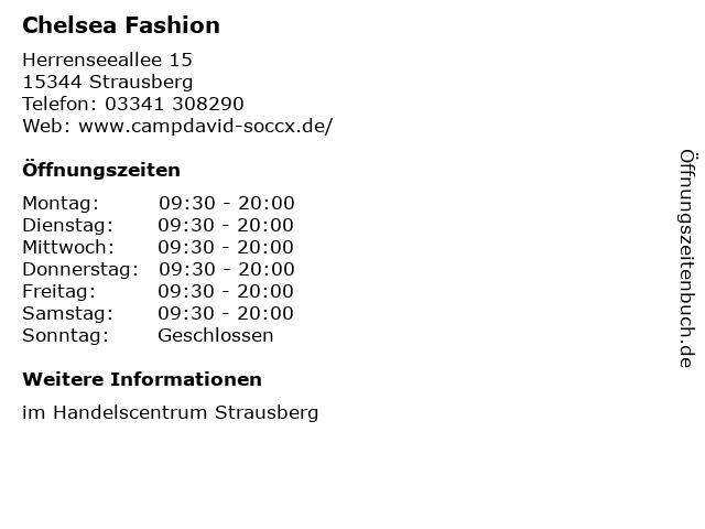 Chelsea Fashion in Strausberg: Adresse und Öffnungszeiten