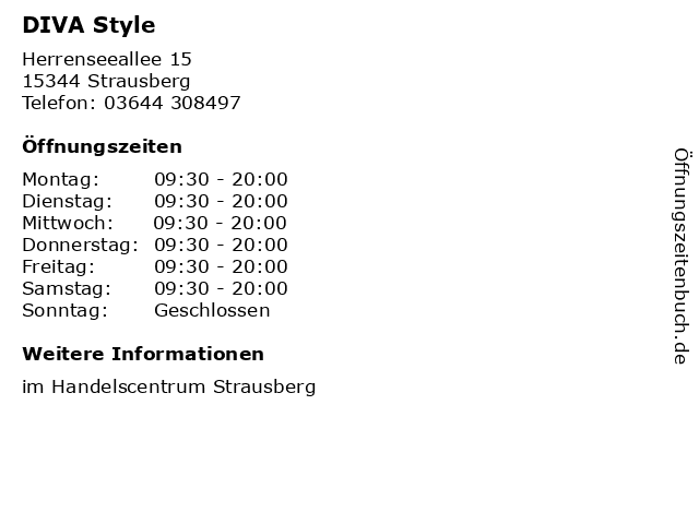 DIVA Style in Strausberg: Adresse und Öffnungszeiten