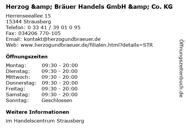 Herzog & Bräuer Handels GmbH & Co. KG in Strausberg: Adresse und Öffnungszeiten