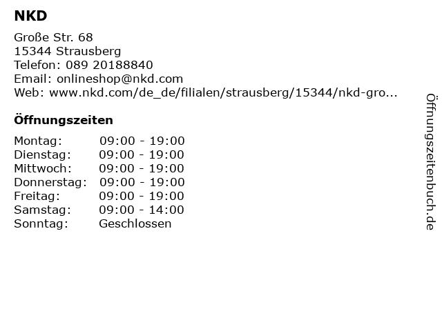 NKD in Strausberg: Adresse und Öffnungszeiten