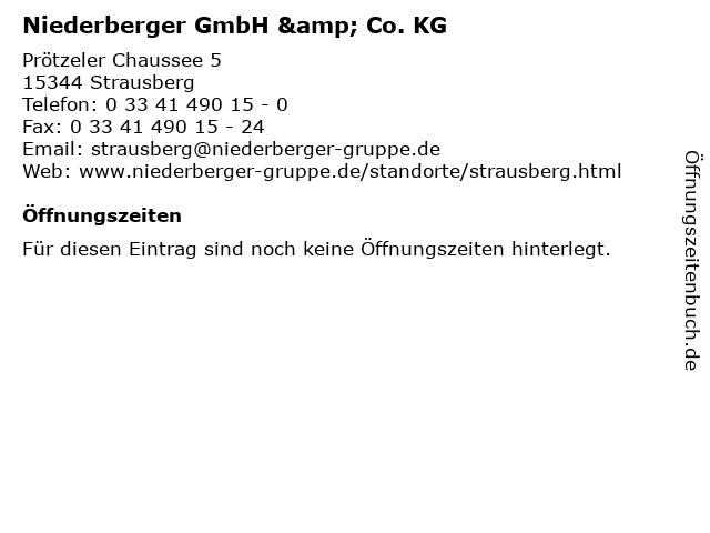 Niederberger GmbH & Co. KG in Strausberg: Adresse und Öffnungszeiten