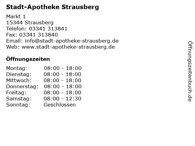 Stadt-Apotheke Strausberg in Strausberg: Adresse und Öffnungszeiten