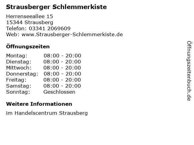 Strausberger Schlemmerkiste in Strausberg: Adresse und Öffnungszeiten