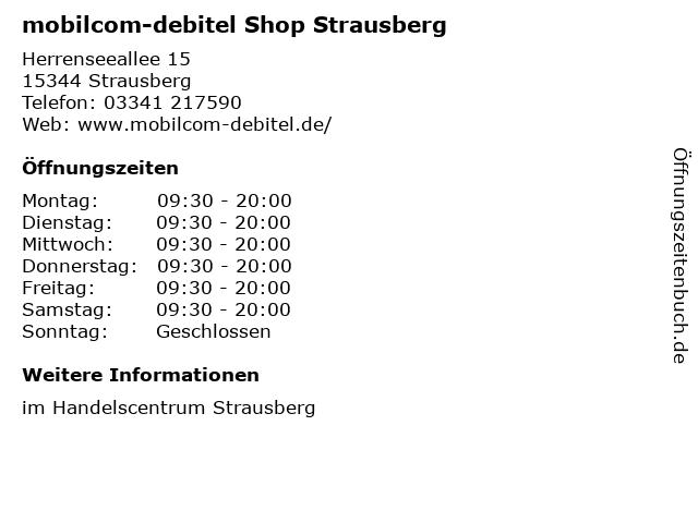 mobilcom-debitel Shop Strausberg in Strausberg: Adresse und Öffnungszeiten