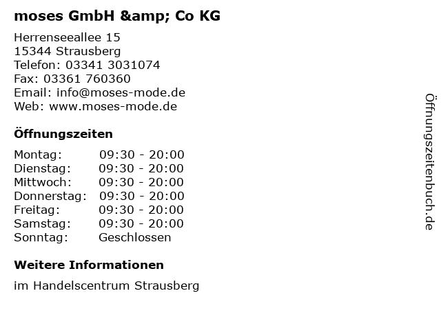 moses GmbH & Co KG in Strausberg: Adresse und Öffnungszeiten