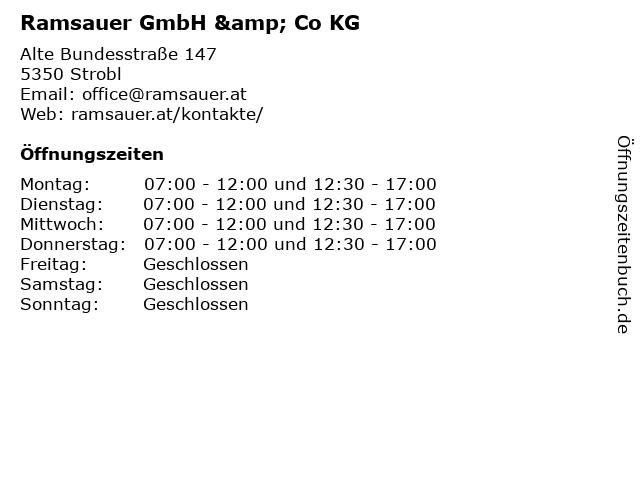 Ramsauer GmbH & Co KG in Strobl: Adresse und Öffnungszeiten