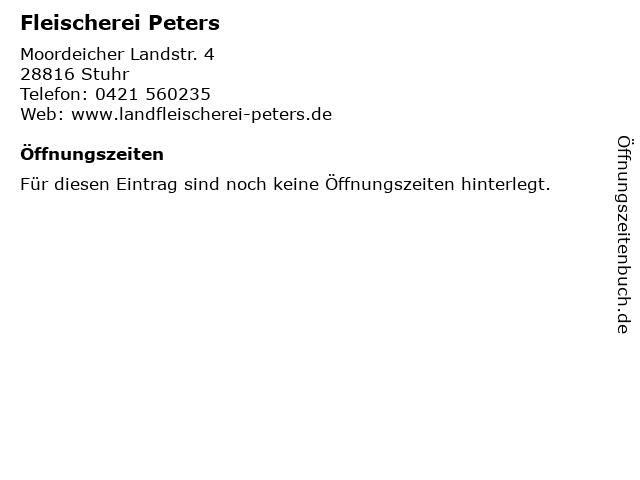 Fleischerei Peters in Stuhr: Adresse und Öffnungszeiten