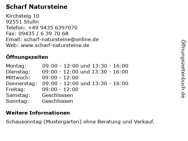 Scharf Natursteine in Stulln: Adresse und Öffnungszeiten