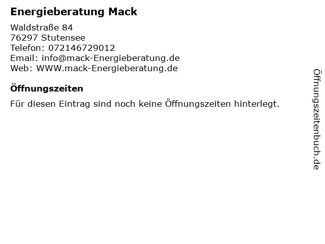 Energieberatung Mack in Stutensee: Adresse und Öffnungszeiten