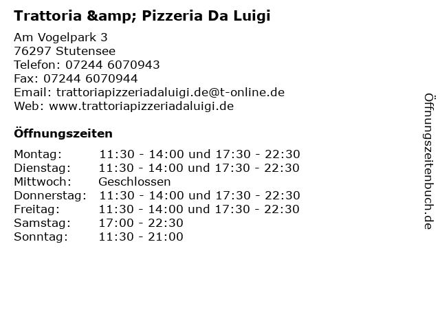 Trattoria & Pizzeria Da Luigi in Stutensee: Adresse und Öffnungszeiten