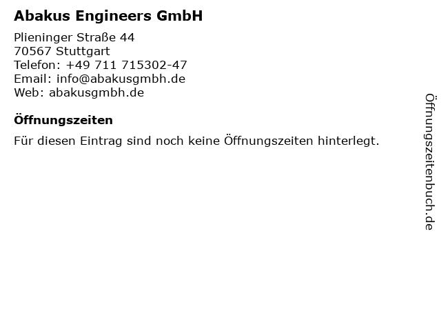 Abakus Engineers GmbH in Stuttgart: Adresse und Öffnungszeiten