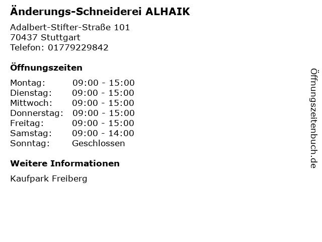Änderungs-Schneiderei OURANIA in Stuttgart: Adresse und Öffnungszeiten