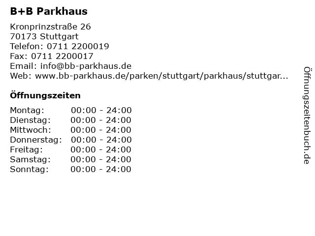 parkhaus kronprinzstraße stuttgart