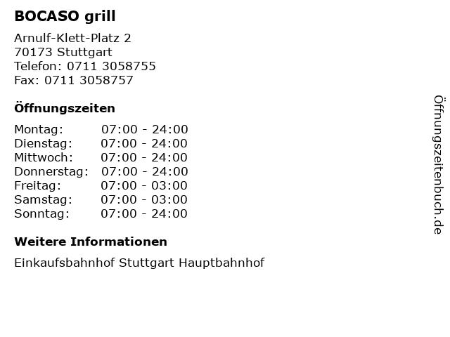 BOCASO grill in Stuttgart: Adresse und Öffnungszeiten