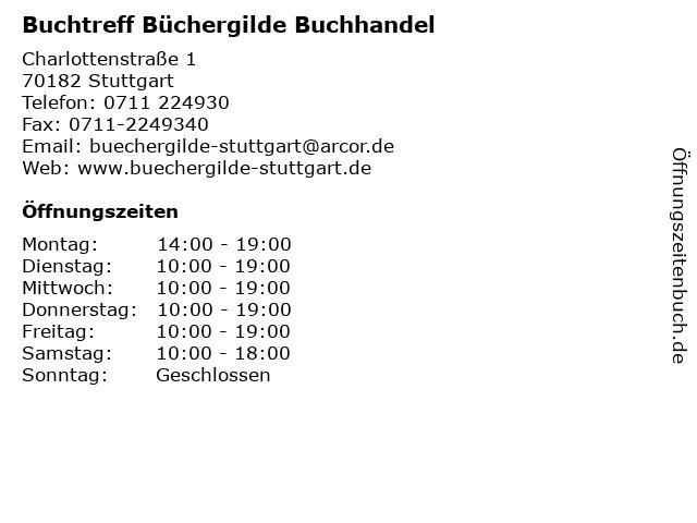 Buchtreff Büchergilde Buchhandel in Stuttgart: Adresse und Öffnungszeiten