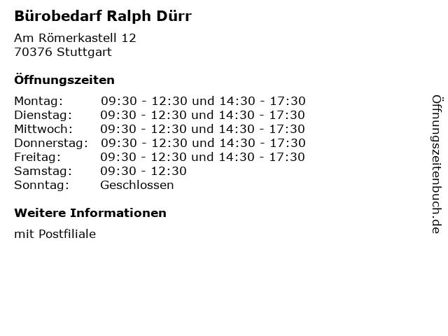 ᐅ Offnungszeiten Burobedarf Ralph Durr Am Romerkastell 12 In
