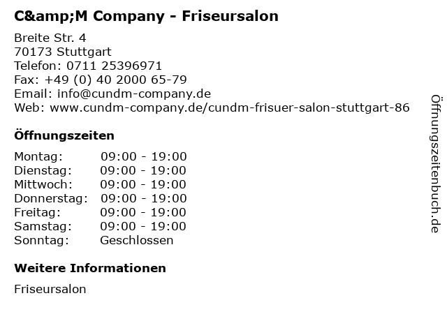 C&M Company - Friseursalon in Stuttgart: Adresse und Öffnungszeiten
