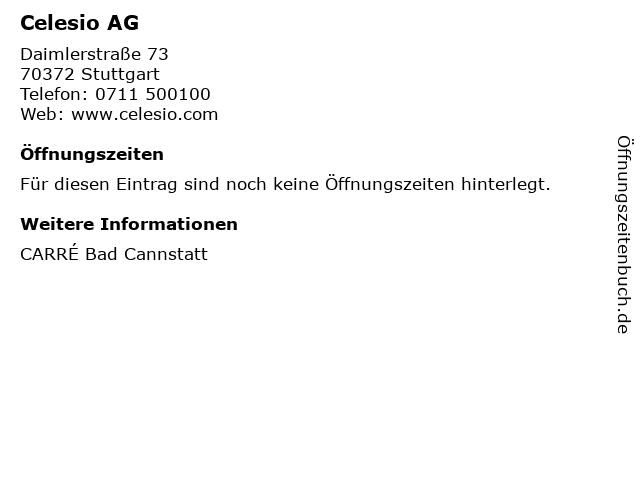 ᐅ öffnungszeiten Celesio Ag Daimlerstraße 73 In Stuttgart