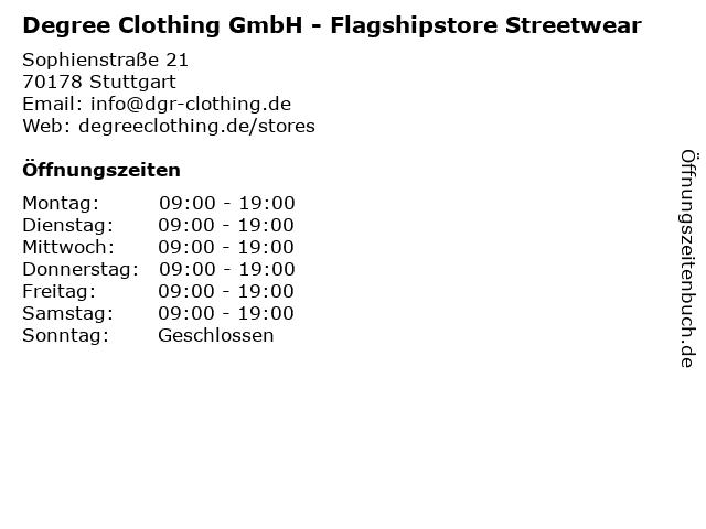 Degree Clothing GmbH - Flagshipstore Streetwear in Stuttgart: Adresse und Öffnungszeiten