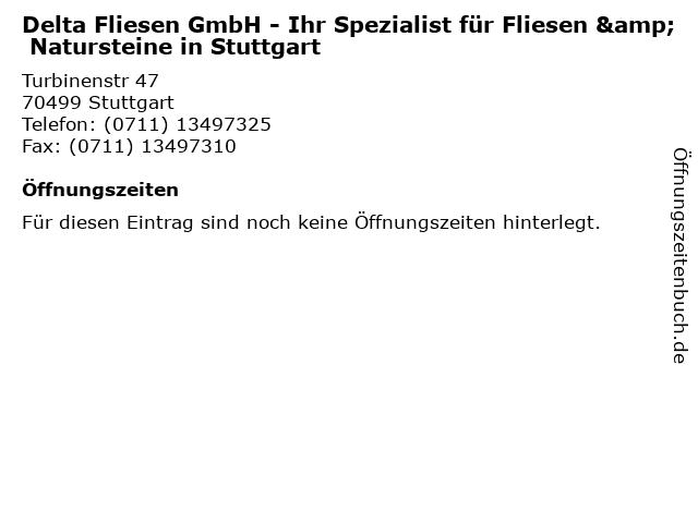 Delta Fliesen GmbH - Ihr Spezialist für Fliesen & Natursteine in Stuttgart in Stuttgart: Adresse und Öffnungszeiten