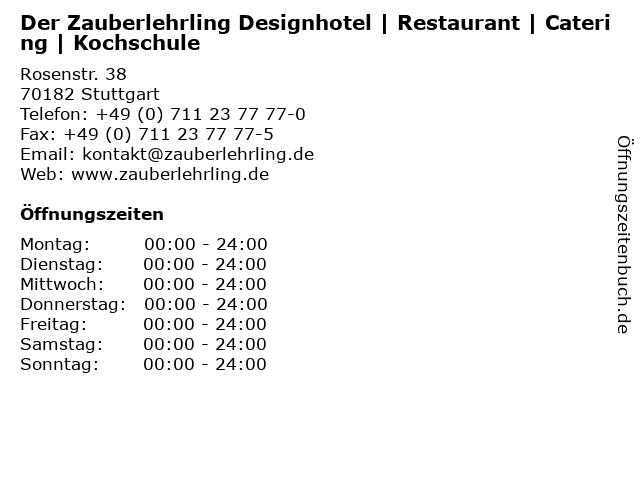 Zauberlehrling in Stuttgart: Adresse und Öffnungszeiten