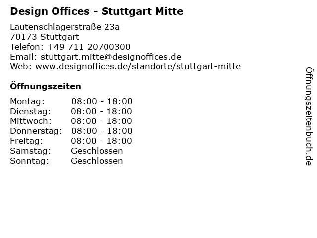Design Offices - Stuttgart Mitte in Stuttgart: Adresse und Öffnungszeiten