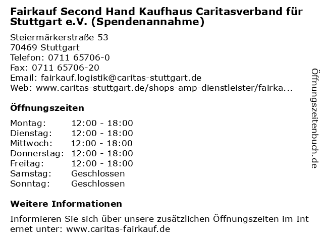 31faa3d328f9cc Bilder zu Fairkauf Second Hand Kaufhaus Caritasverband für Stuttgart e.V.  (Spendenannahme) in Stuttgart