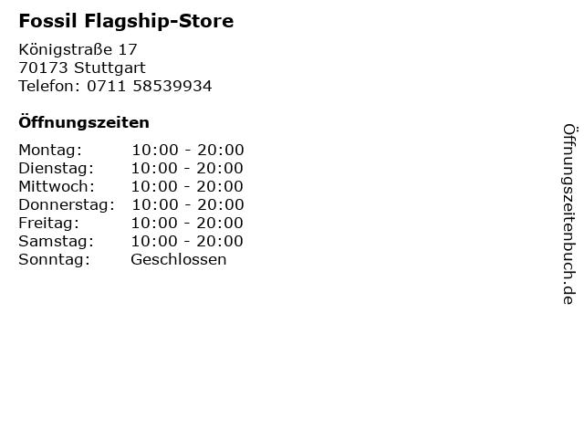 Fossil Flagship-Store in Stuttgart: Adresse und Öffnungszeiten