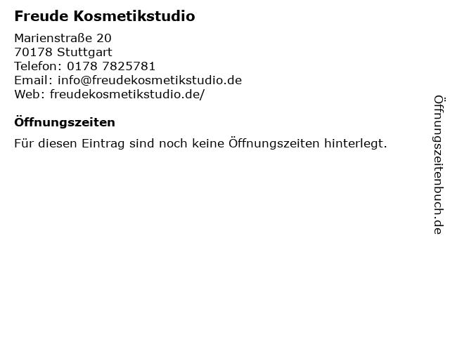 Freude Kosmetikstudio in Stuttgart: Adresse und Öffnungszeiten