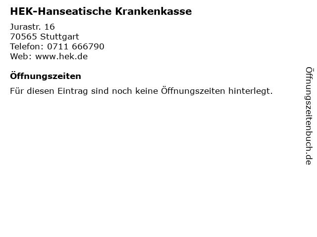 HEK-Hanseatische Krankenkasse in Stuttgart: Adresse und Öffnungszeiten