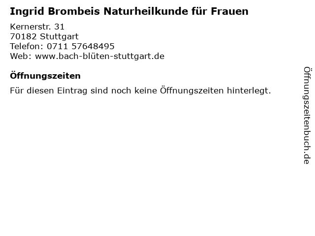 Ingrid Brombeis Naturheilkunde für Frauen in Stuttgart: Adresse und Öffnungszeiten