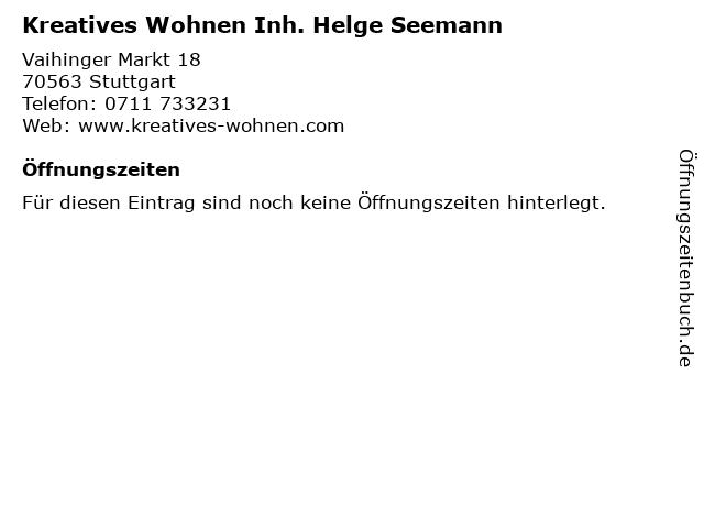 Kreatives Wohnen Inh. Helge Seemann in Stuttgart: Adresse und Öffnungszeiten