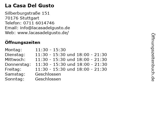 La Casa Del Gusto in Stuttgart: Adresse und Öffnungszeiten