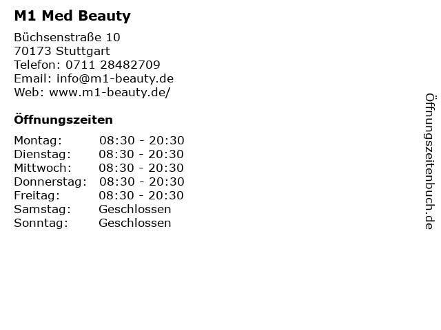 M1 Med Beauty in Stuttgart: Adresse und Öffnungszeiten