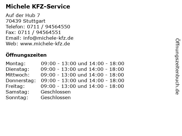 Michele KFZ-Service in Stuttgart: Adresse und Öffnungszeiten