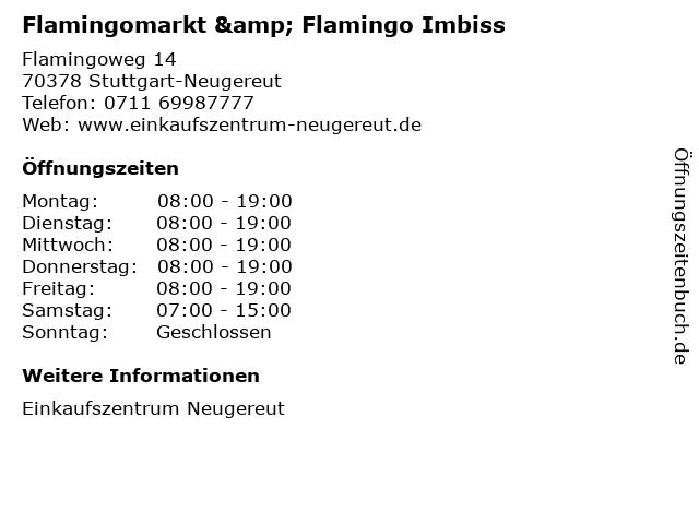 Flamingomarkt & Flamingo Imbiss in Stuttgart-Neugereut: Adresse und Öffnungszeiten