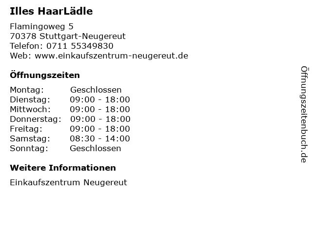 Illes HaarLädle in Stuttgart-Neugereut: Adresse und Öffnungszeiten