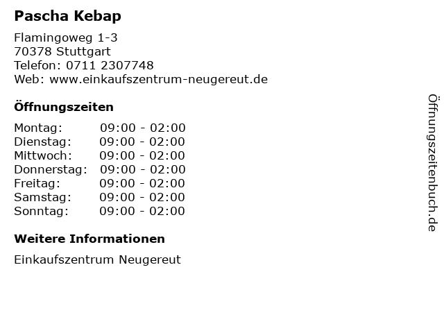 Pascha Kebap in Stuttgart: Adresse und Öffnungszeiten