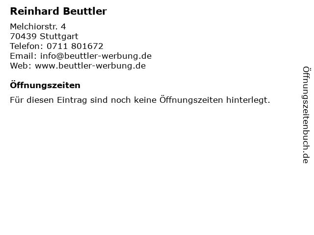 Reinhard Beuttler in Stuttgart: Adresse und Öffnungszeiten