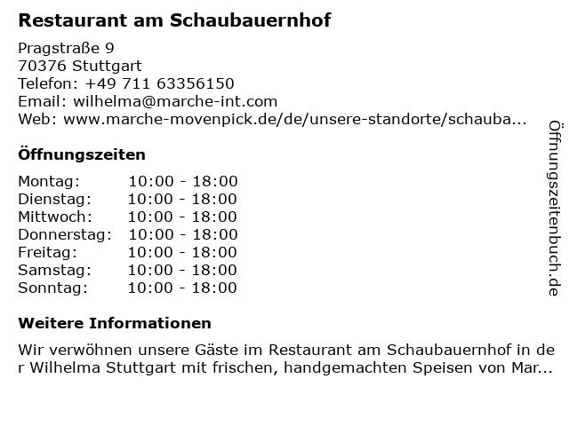 Restaurant am Schaubauernhof in Stuttgart: Adresse und Öffnungszeiten