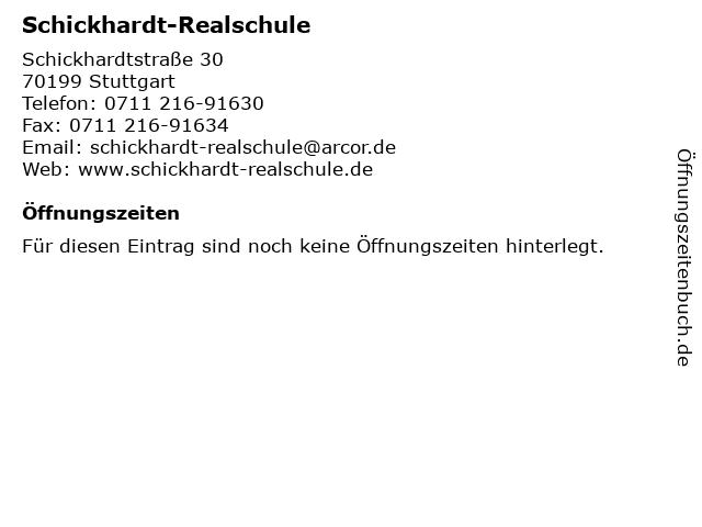 Schickhardt-Realschule in Stuttgart: Adresse und Öffnungszeiten
